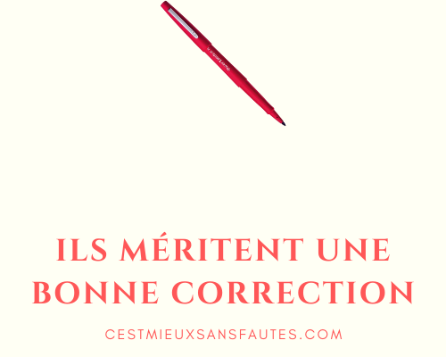 une bonne correction