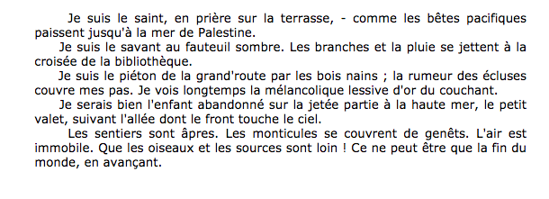 Anaphore Rimbaud